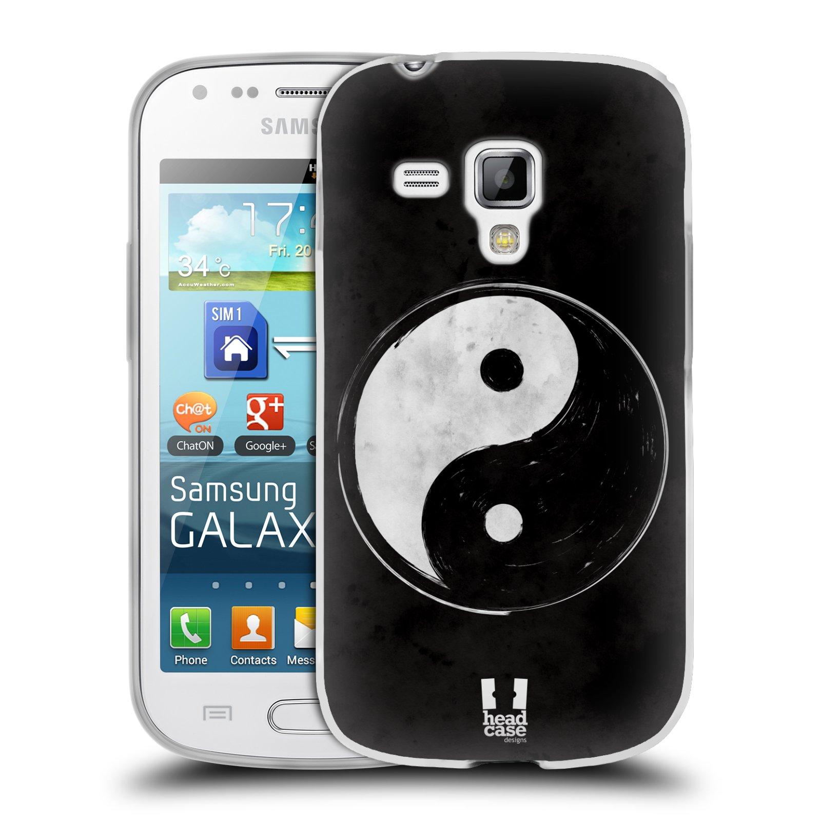 Silikonové pouzdro na mobil Samsung Galaxy Trend HEAD CASE YIn a Yang BW (Silikonový kryt či obal na mobilní telefon Samsung Galaxy Trend GT-S7560)