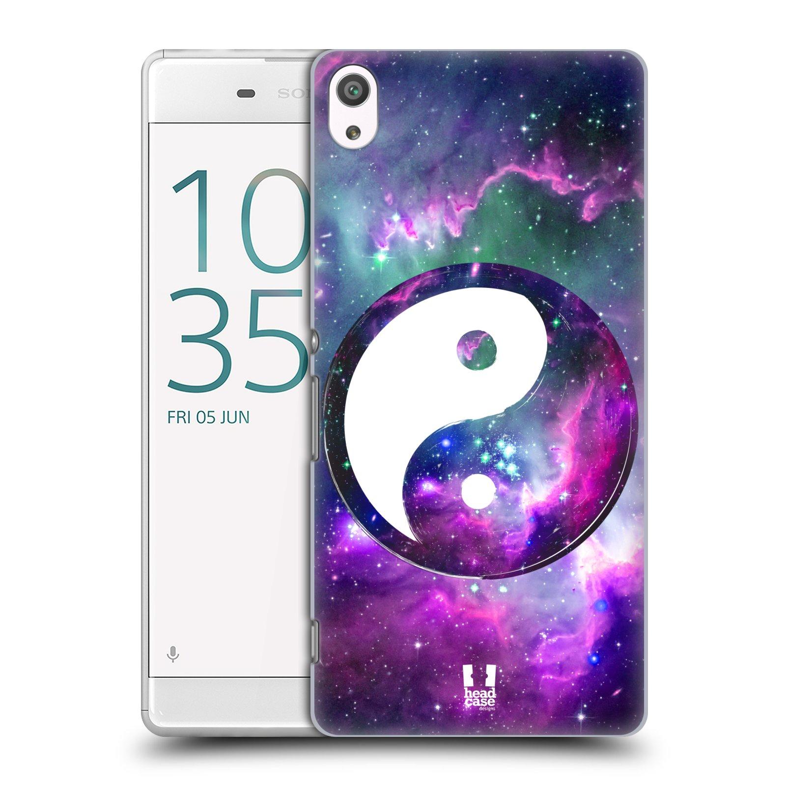 Plastové pouzdro na mobil Sony Xperia XA Ultra HEAD CASE Yin a Yang PURPLE (Plastový kryt či obal na mobilní telefon Sony Xperia XA Ultra F3211)