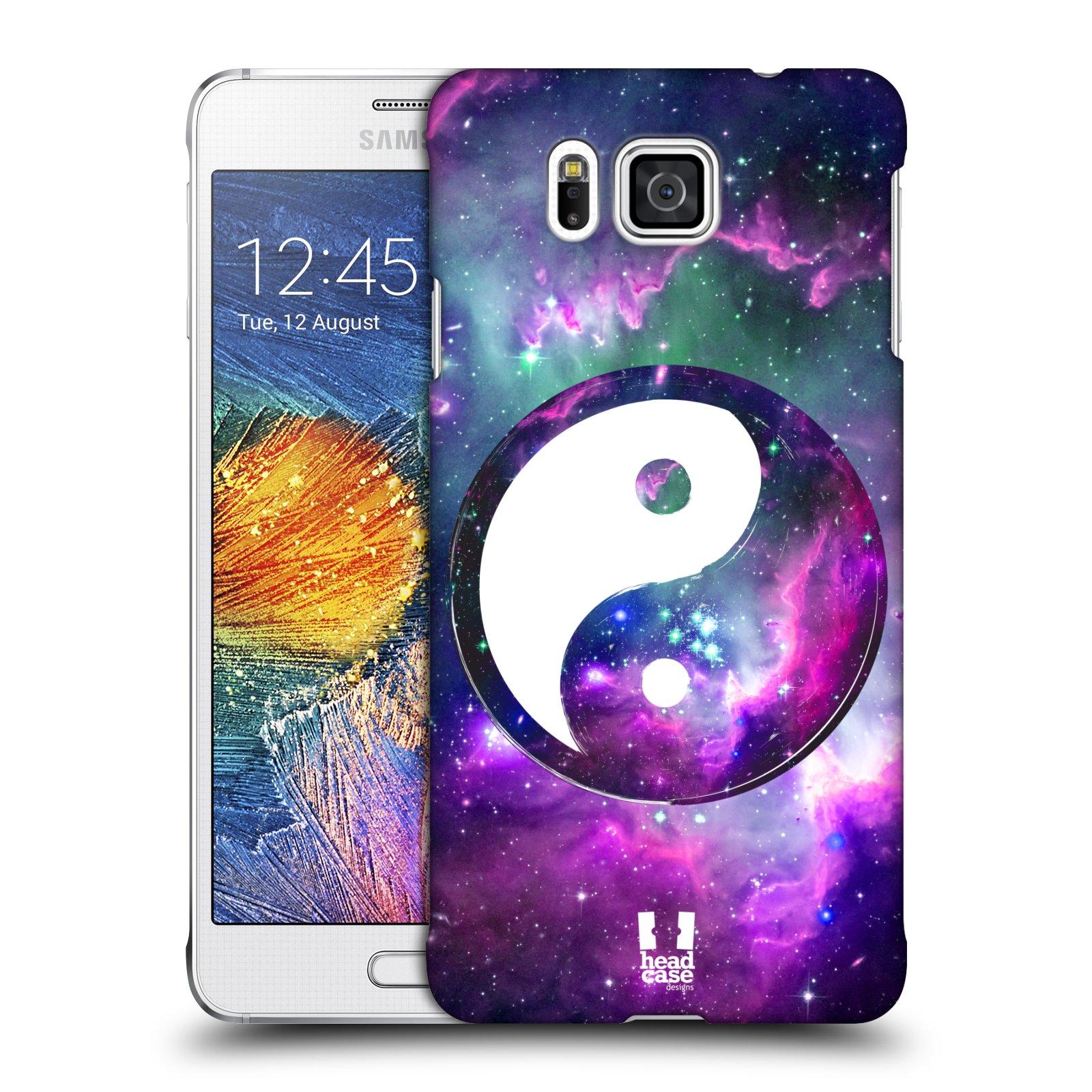 Plastové pouzdro na mobil Samsung Galaxy Alpha HEAD CASE Yin a Yang PURPLE (Kryt či obal na mobilní telefon Samsung Galaxy Alpha SM-G850)