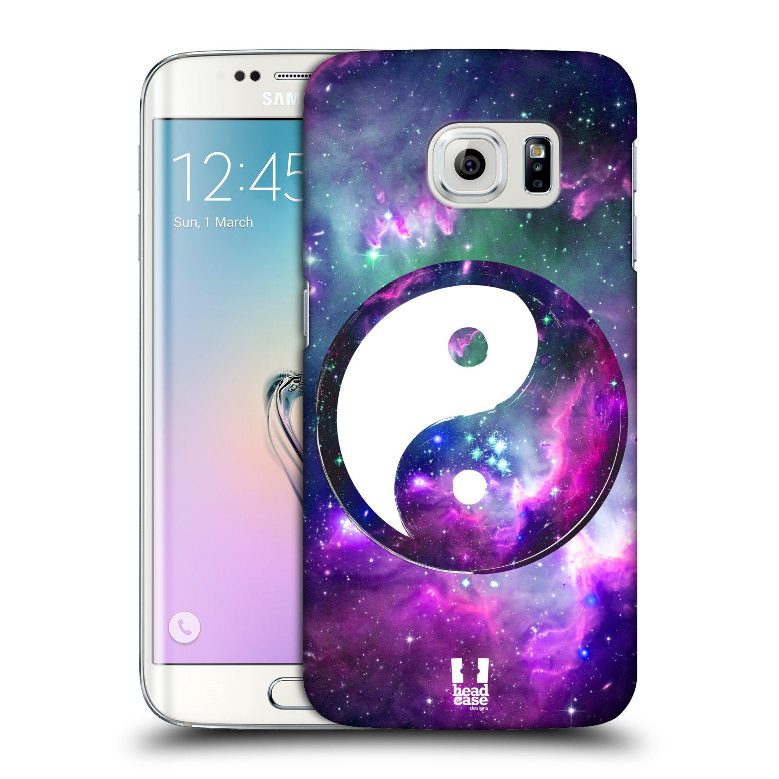 Plastové pouzdro na mobil Samsung Galaxy S6 Edge HEAD CASE Yin a Yang PURPLE (Kryt či obal na mobilní telefon Samsung Galaxy S6 Edge SM-G925F)