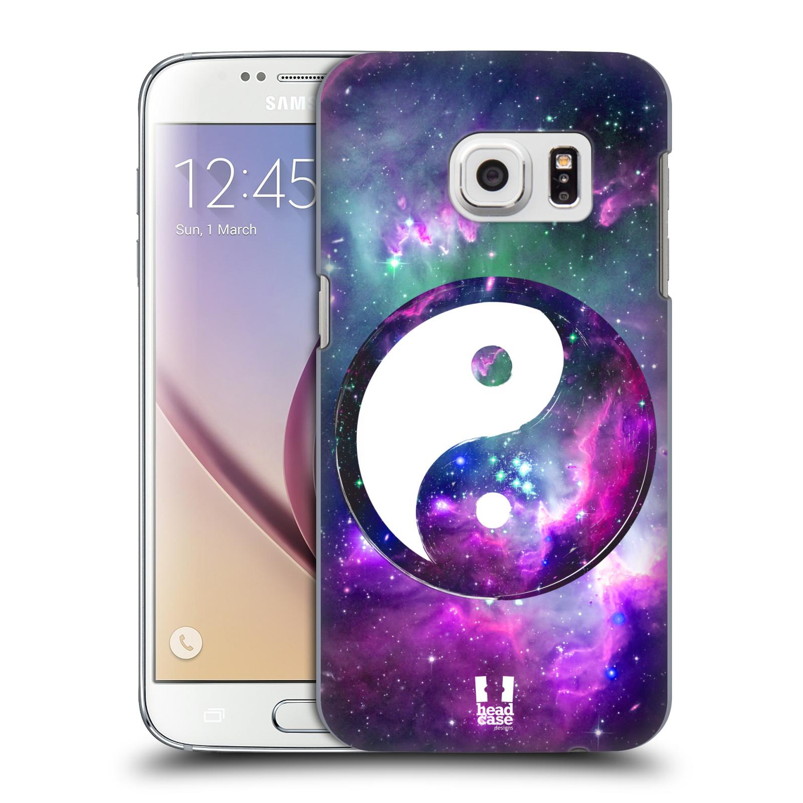 Plastové pouzdro na mobil Samsung Galaxy S7 HEAD CASE Yin a Yang PURPLE (Kryt či obal na mobilní telefon Samsung Galaxy S7 SM-G930F)