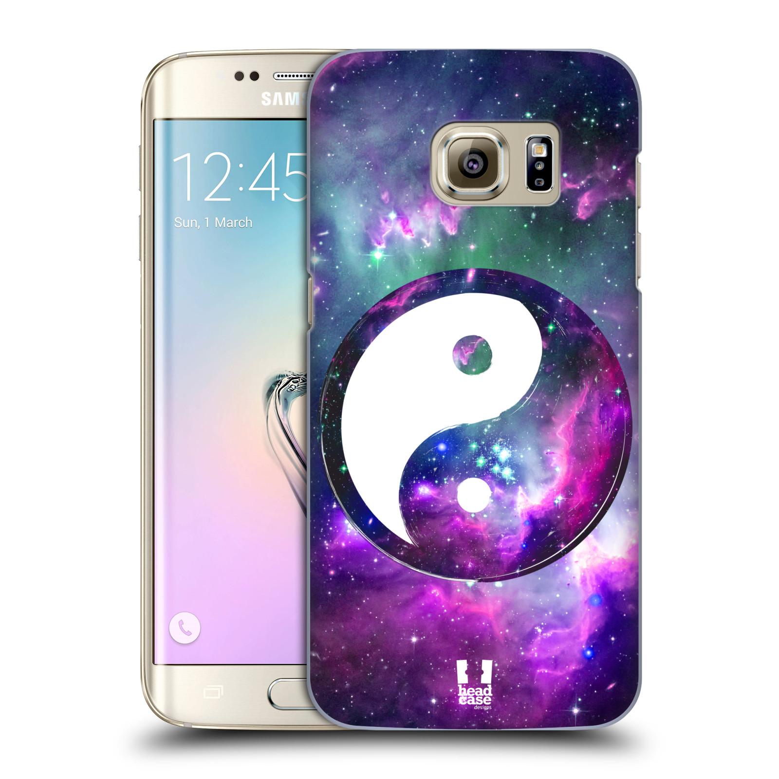 Plastové pouzdro na mobil Samsung Galaxy S7 Edge HEAD CASE Yin a Yang PURPLE (Kryt či obal na mobilní telefon Samsung Galaxy S7 Edge SM-G935F)