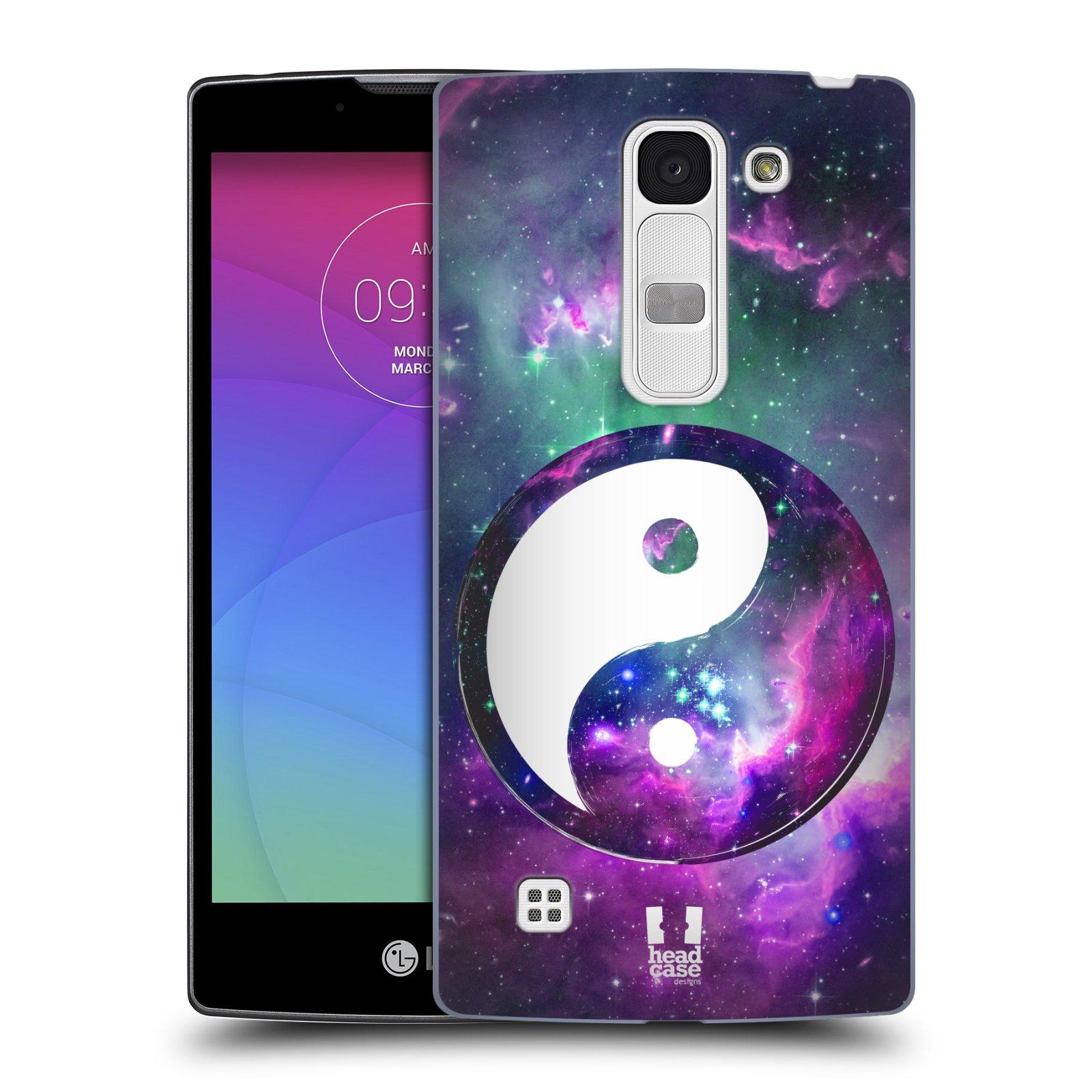 Plastové pouzdro na mobil LG Spirit LTE HEAD CASE Yin a Yang PURPLE (Kryt či obal na mobilní telefon LG Spirit H420 a LG Spirit LTE H440N)
