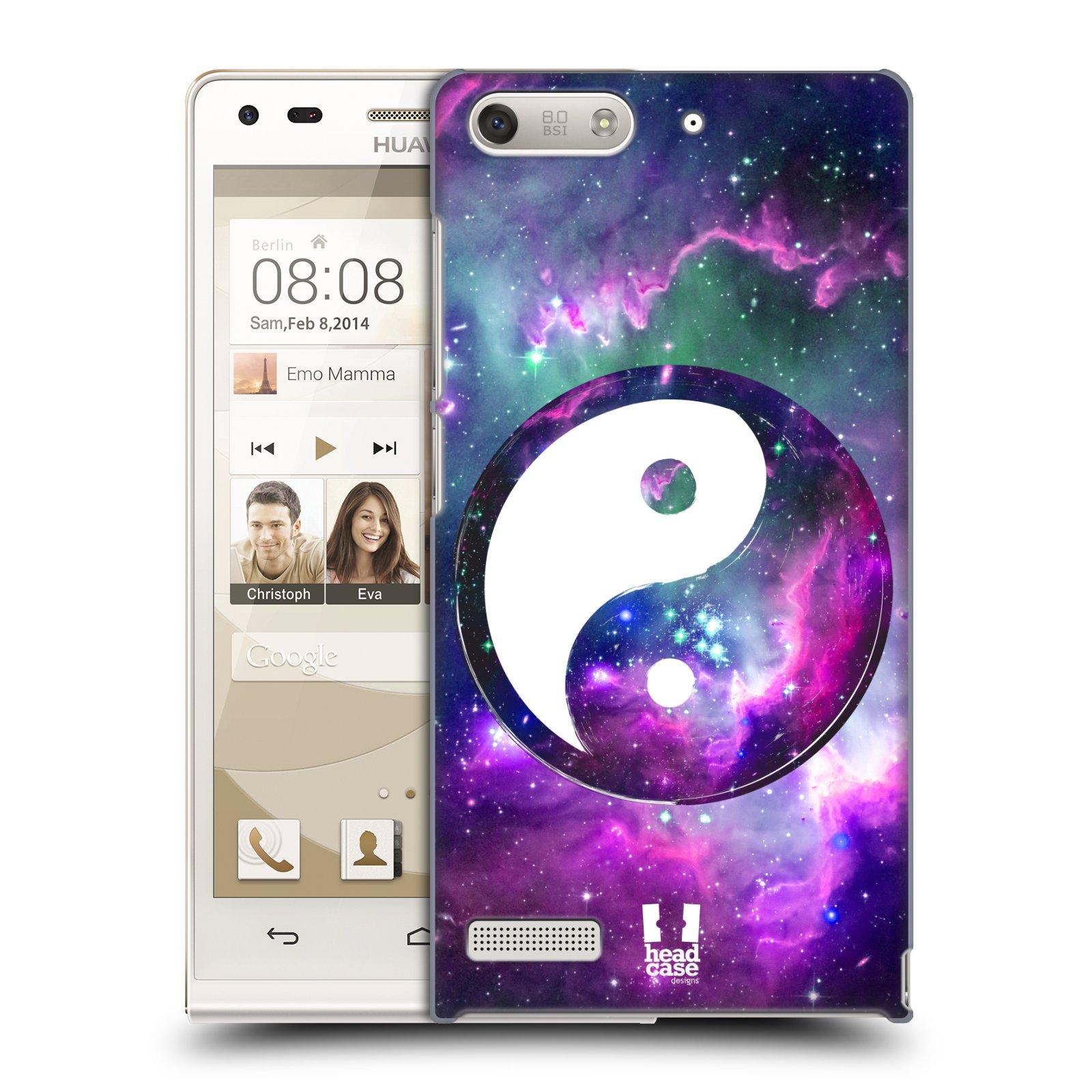 Plastové pouzdro na mobil Huawei Ascend G6 HEAD CASE Yin a Yang PURPLE (Kryt či obal na mobilní telefon Huawei Ascend G6 bez LTE)