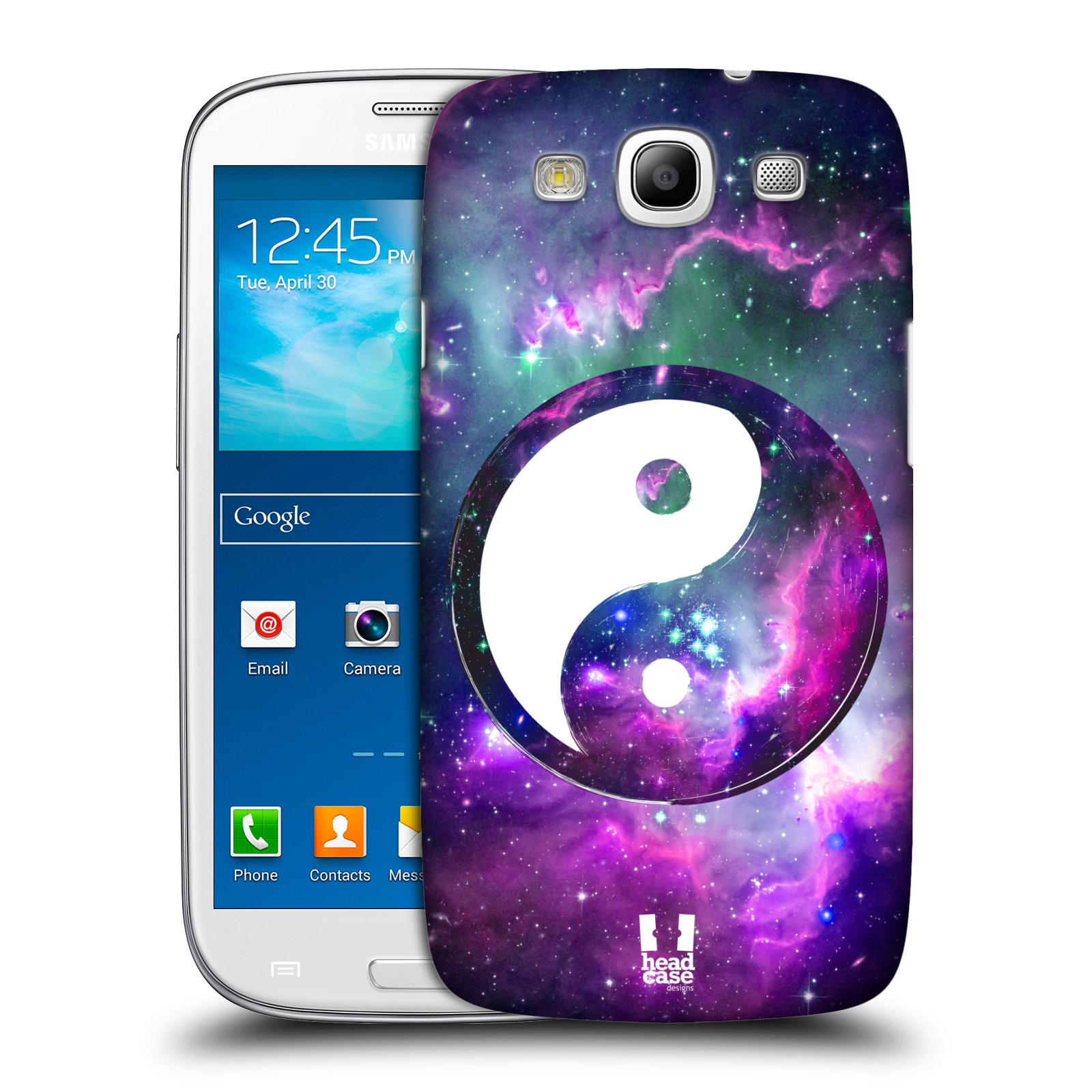 Plastové pouzdro na mobil Samsung Galaxy S3 Neo HEAD CASE Yin a Yang PURPLE