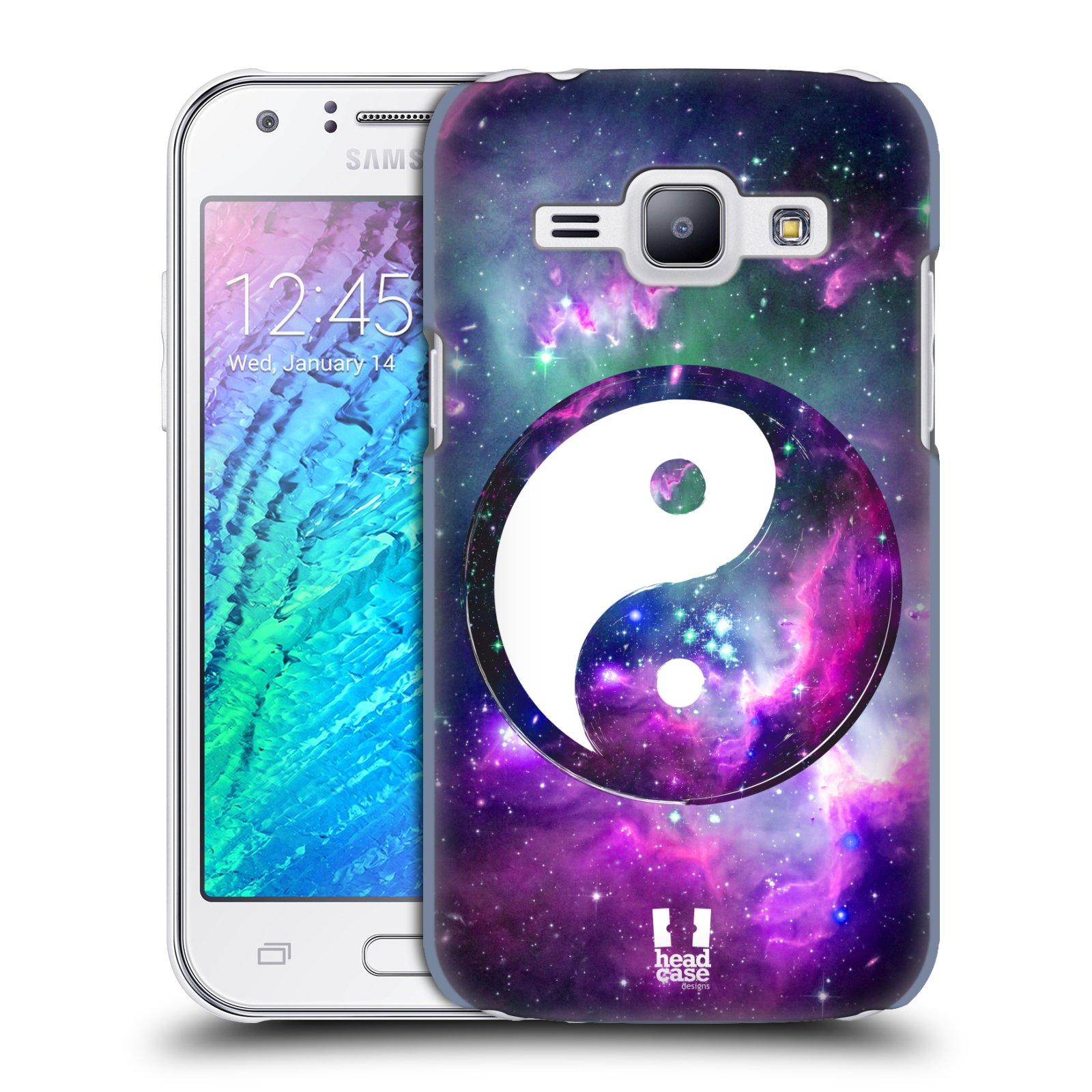 Plastové pouzdro na mobil Samsung Galaxy J1 HEAD CASE Yin a Yang PURPLE (Kryt či obal na mobilní telefon Samsung Galaxy J1 a J1 Duos )