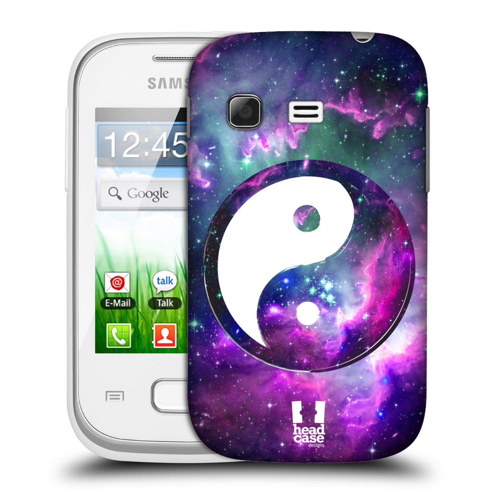 Plastové pouzdro na mobil Samsung Galaxy Pocket HEAD CASE Yin a Yang PURPLE (Kryt či obal na mobilní telefon Samsung Galaxy Pocket GT-S5300)