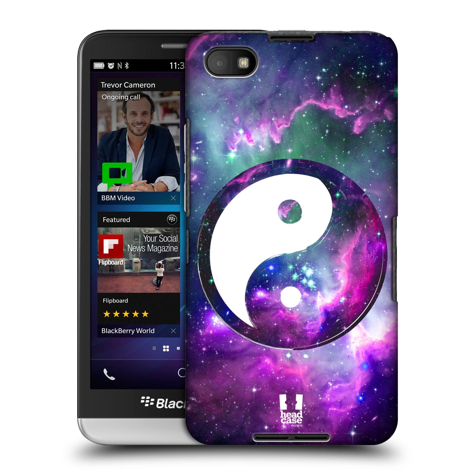 Plastové pouzdro na mobil Blackberry Z30 HEAD CASE Yin a Yang PURPLE (Kryt či obal na mobilní telefon Blackberry Z30)