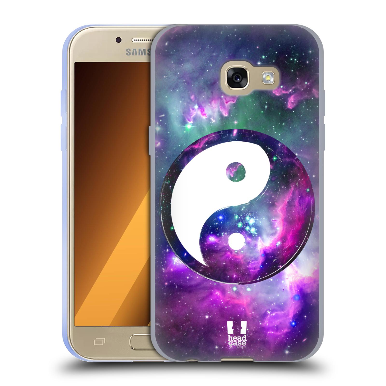 Silikonové pouzdro na mobil Samsung Galaxy A3 (2017) HEAD CASE YIn a Yang PURPLE