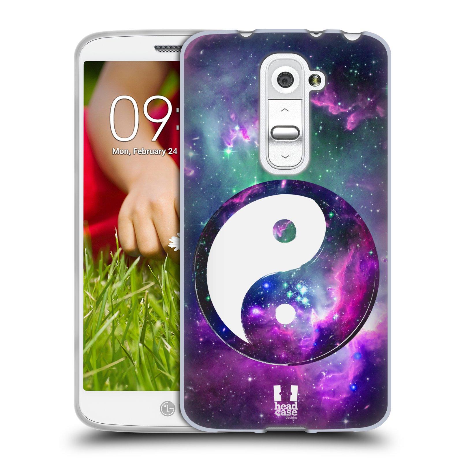 Silikonové pouzdro na mobil LG G2 Mini HEAD CASE YIn a Yang PURPLE (Silikonový kryt či obal na mobilní telefon LG G2 Mini D620)