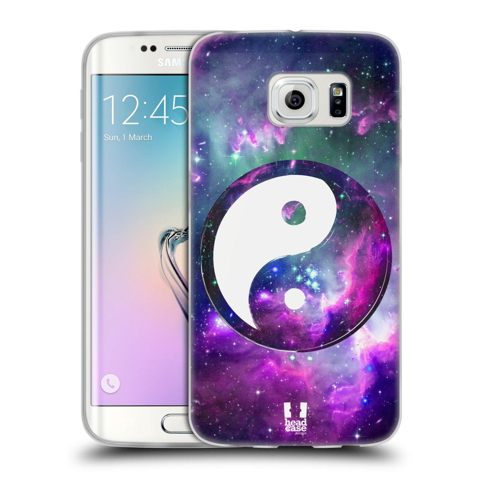 Silikonové pouzdro na mobil Samsung Galaxy S6 Edge HEAD CASE YIn a Yang PURPLE (Silikonový kryt či obal na mobilní telefon Samsung Galaxy S6 Edge SM-G925F)