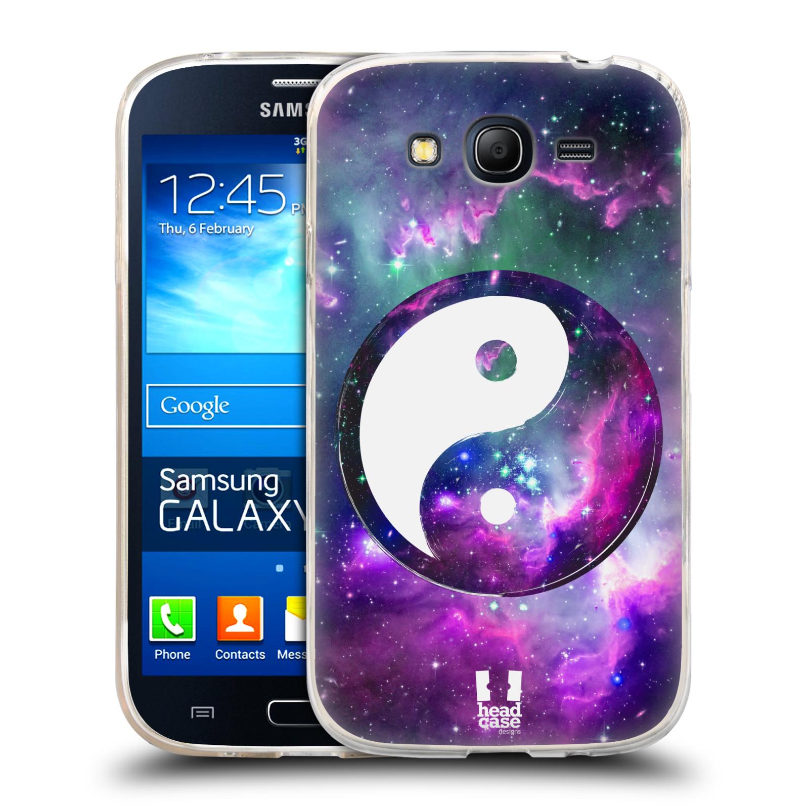 Silikonové pouzdro na mobil Samsung Galaxy Grand Neo HEAD CASE YIn a Yang PURPLE (Silikonový kryt či obal na mobilní telefon Samsung Galaxy Grand Neo GT-I9060)