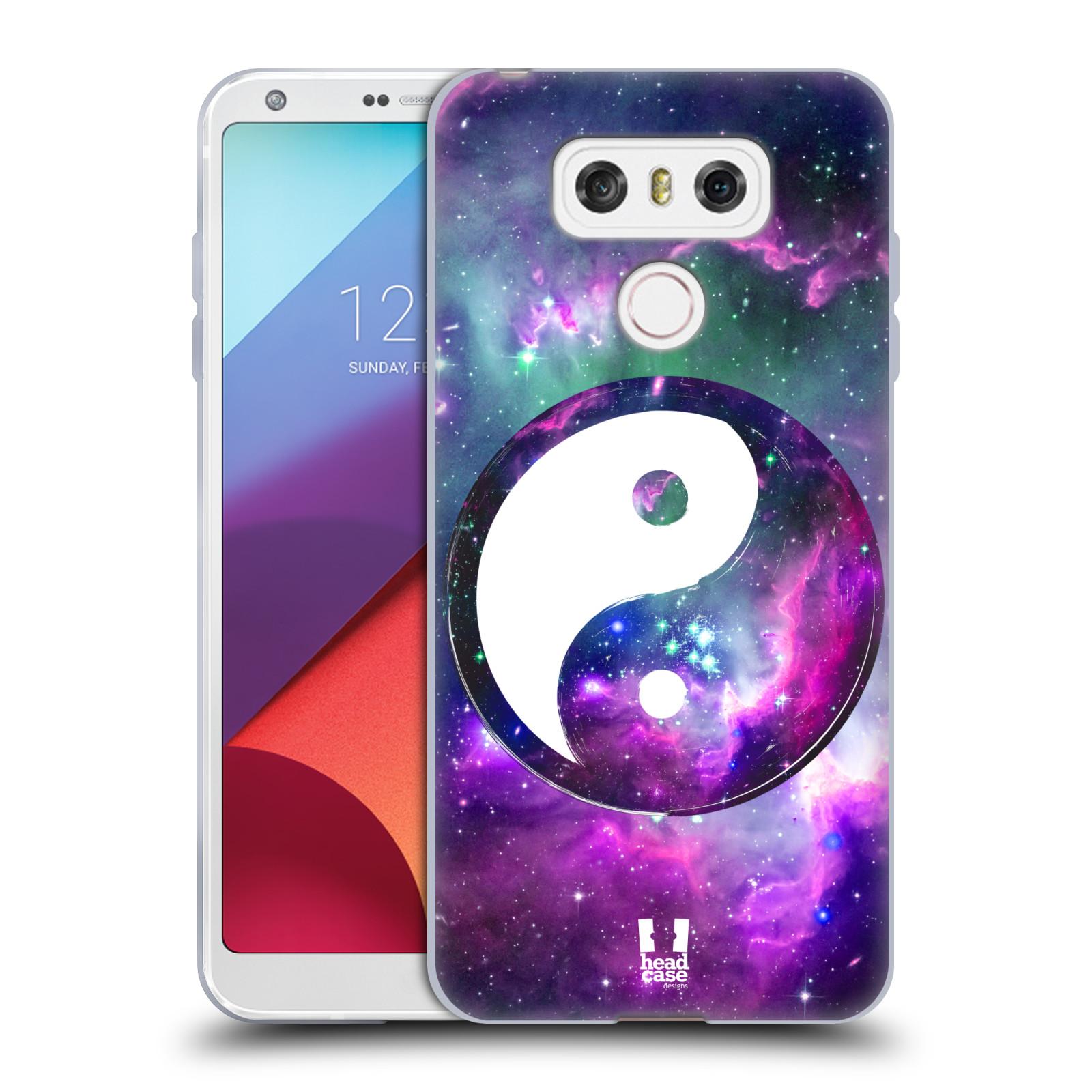 Silikonové pouzdro na mobil LG G6 - Head Case YIn a Yang PURPLE (Silikonový kryt či obal na mobilní telefon LG G6 H870 / LG G6 Dual SIM H870DS)