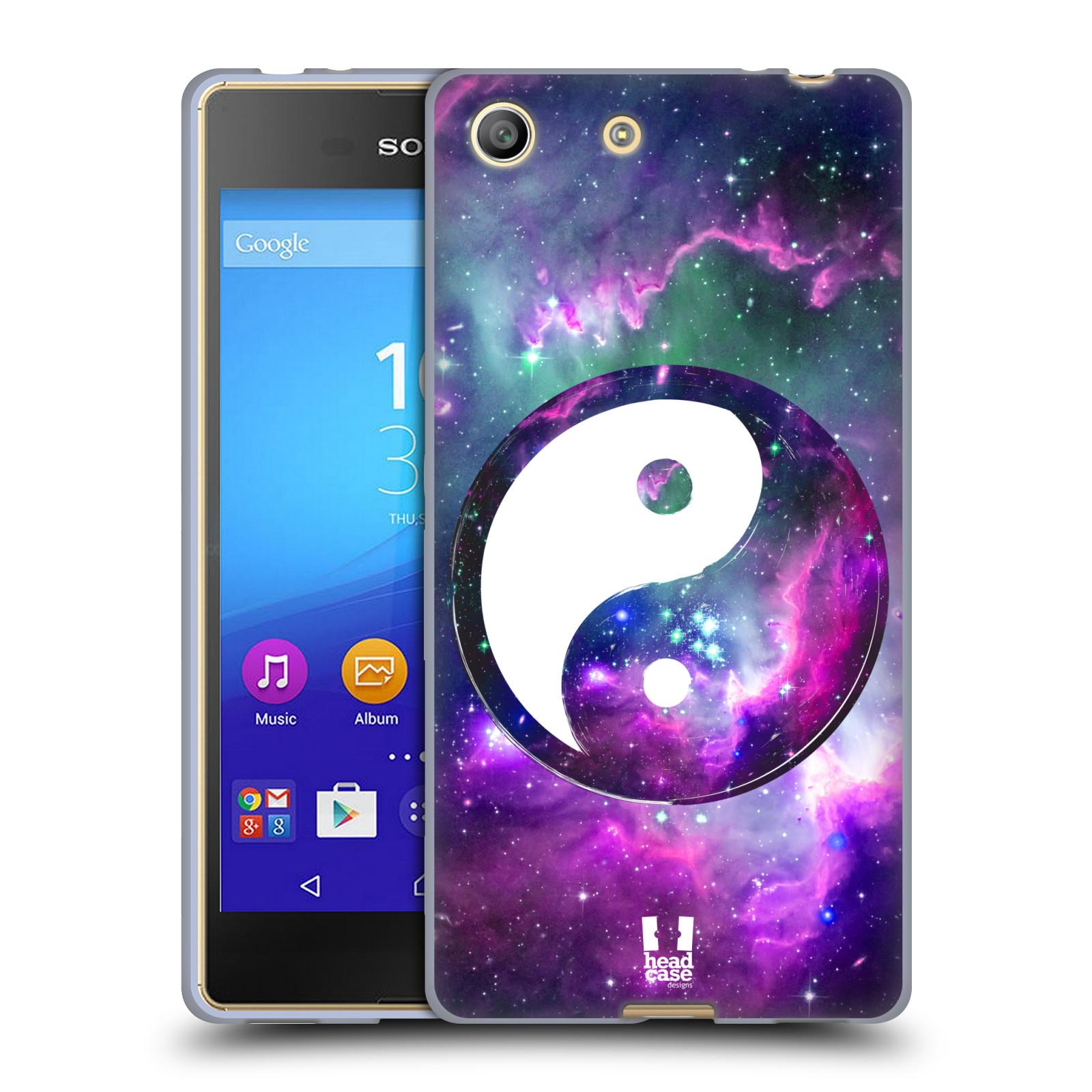 Silikonové pouzdro na mobil Sony Xperia M5 HEAD CASE YIn a Yang PURPLE (Silikonový kryt či obal na mobilní telefon Sony Xperia M5 Dual SIM / Aqua)