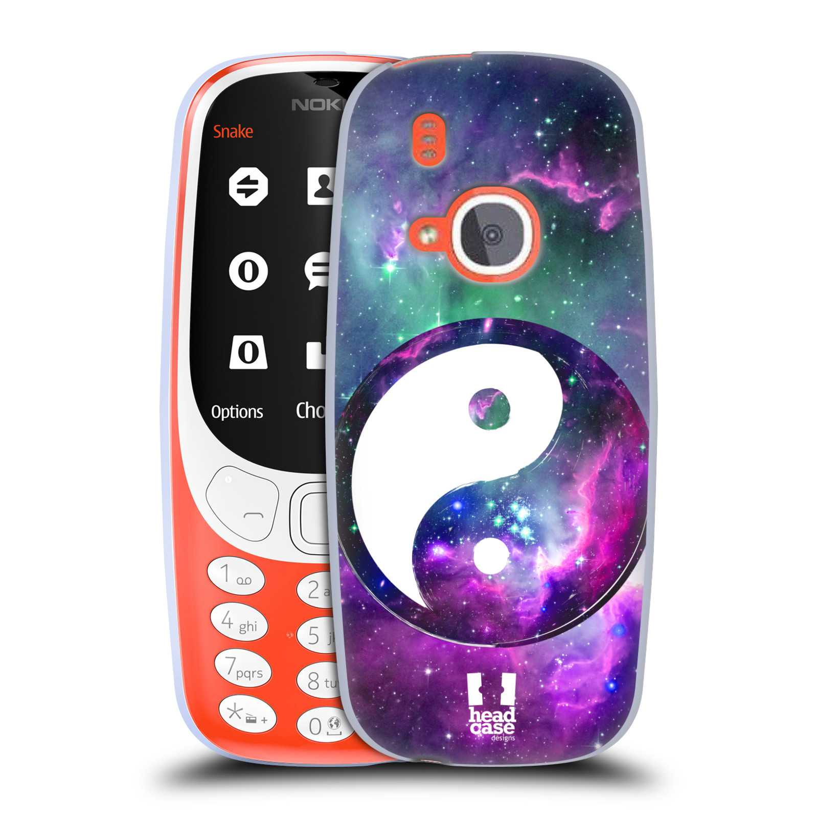 Silikonové pouzdro na mobil Nokia 3310 - Head Case - YIn a Yang PURPLE (Silikonový kryt či obal na mobilní telefon Nokia 3310 (2017) s motivem YIn a Yang PURPLE)