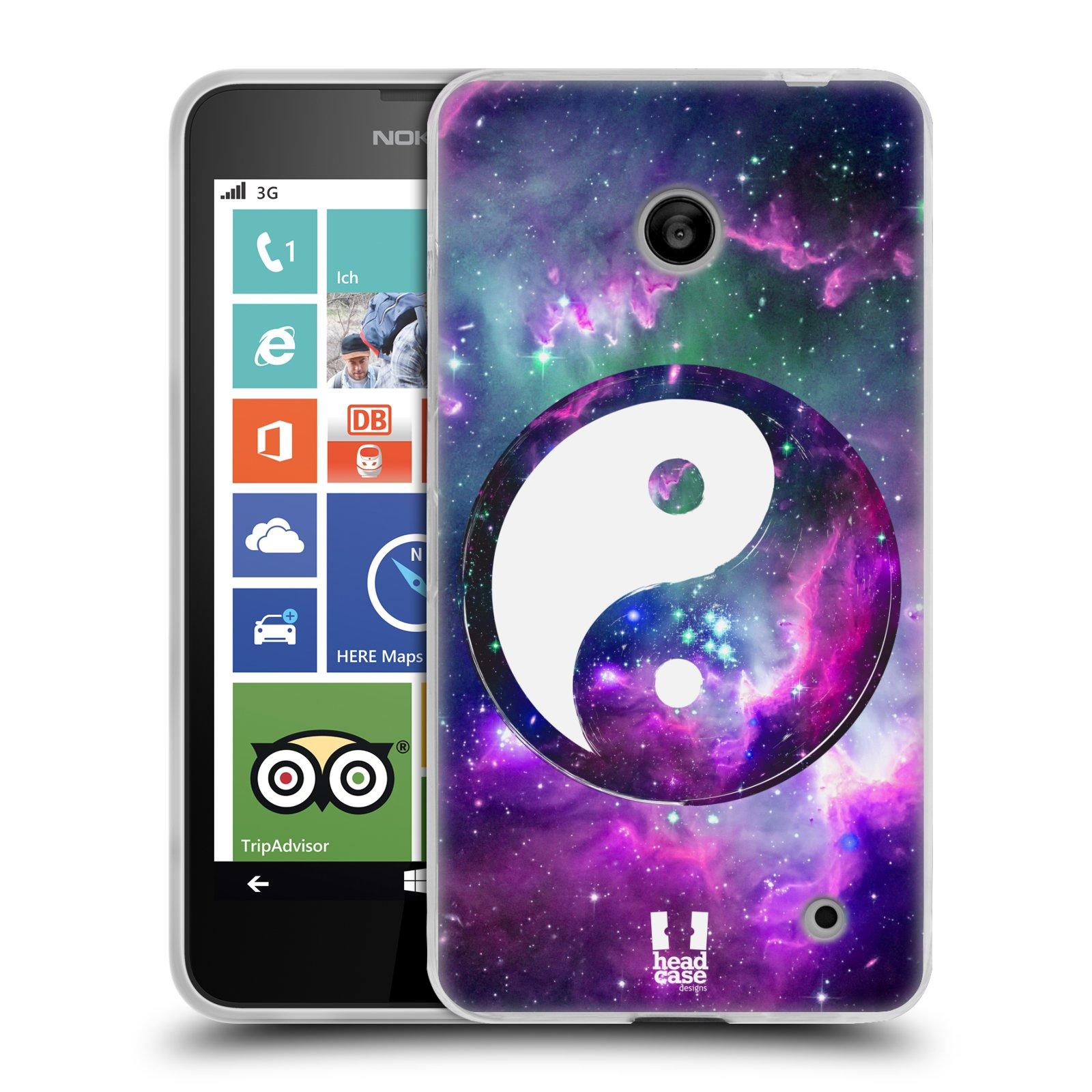 Silikonové pouzdro na mobil Nokia Lumia 635 HEAD CASE YIn a Yang PURPLE (Silikonový kryt či obal na mobilní telefon Nokia Lumia 635 Dual SIM)