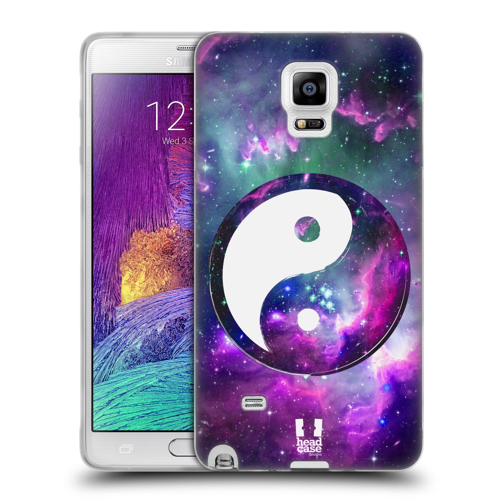 Silikonové pouzdro na mobil Samsung Galaxy Note 4 HEAD CASE YIn a Yang PURPLE (Silikonový kryt či obal na mobilní telefon Samsung Galaxy Note 4 SM-N910F)
