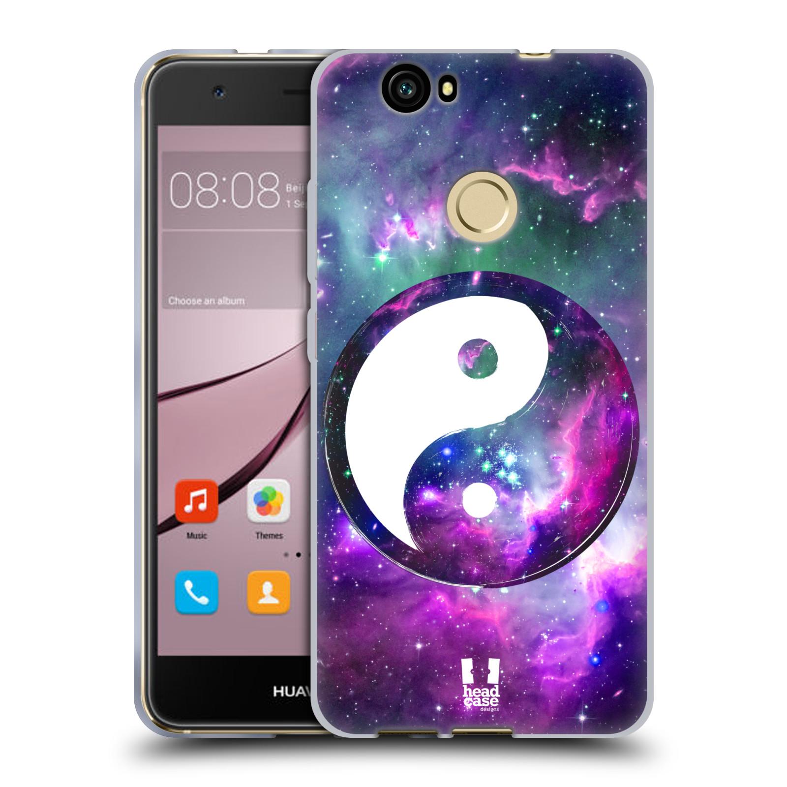 Silikonové pouzdro na mobil Huawei Nova - Head Case - YIn a Yang PURPLE