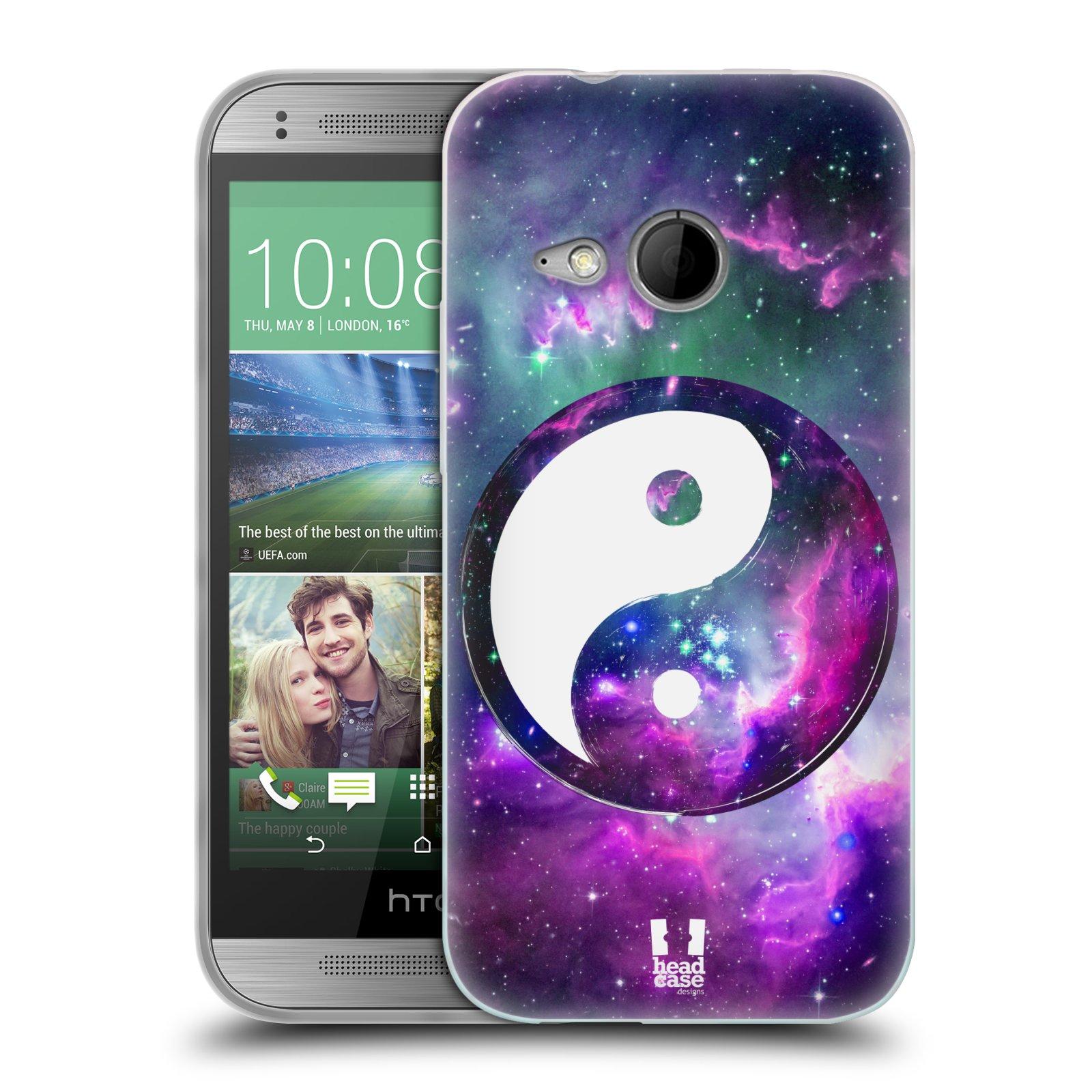 Silikonové pouzdro na mobil HTC ONE Mini 2 HEAD CASE YIn a Yang PURPLE (Silikonový kryt či obal na mobilní telefon HTC ONE Mini 2)