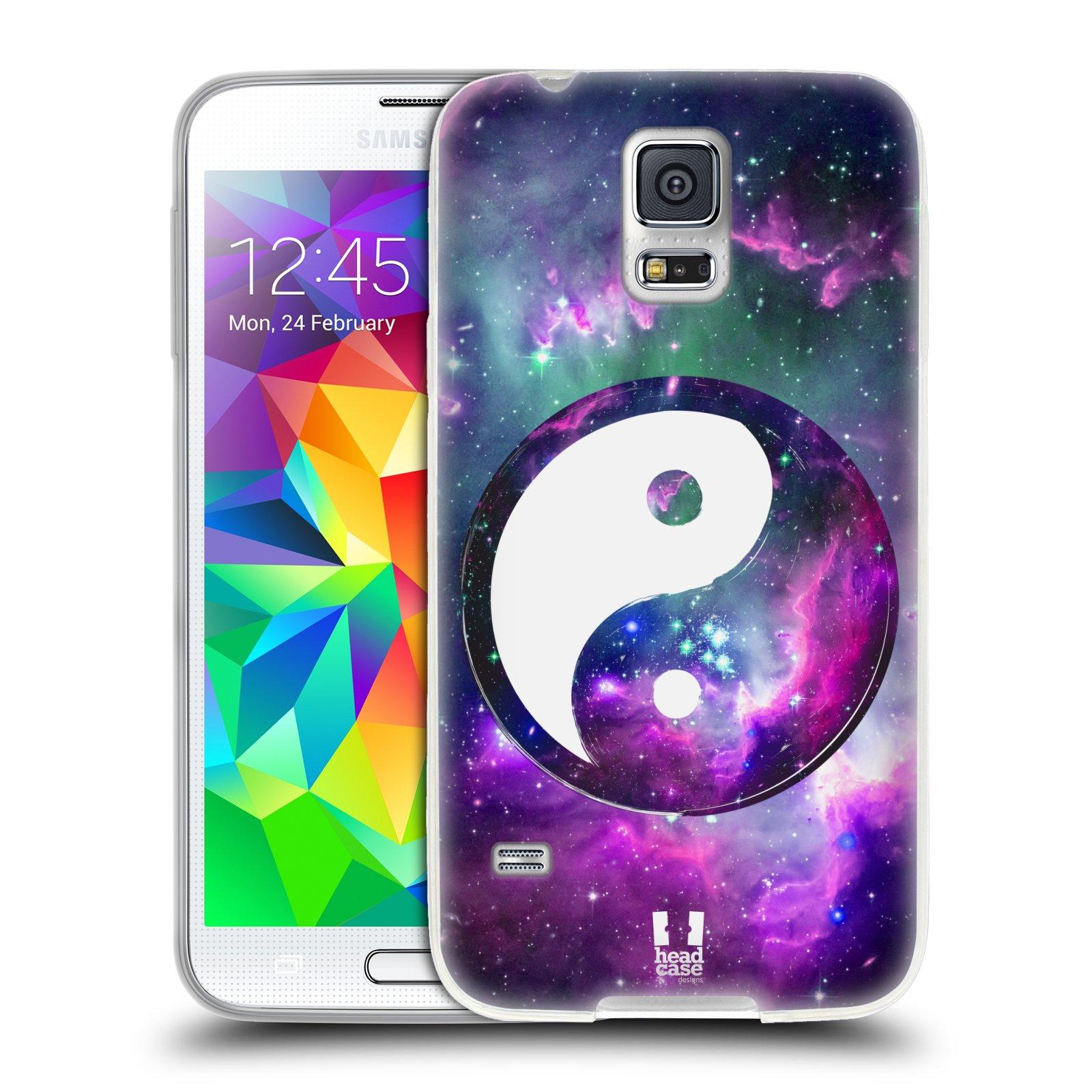 Silikonové pouzdro na mobil Samsung Galaxy S5 HEAD CASE YIn a Yang PURPLE (Silikonový kryt či obal na mobilní telefon Samsung Galaxy S5 SM-G900F)