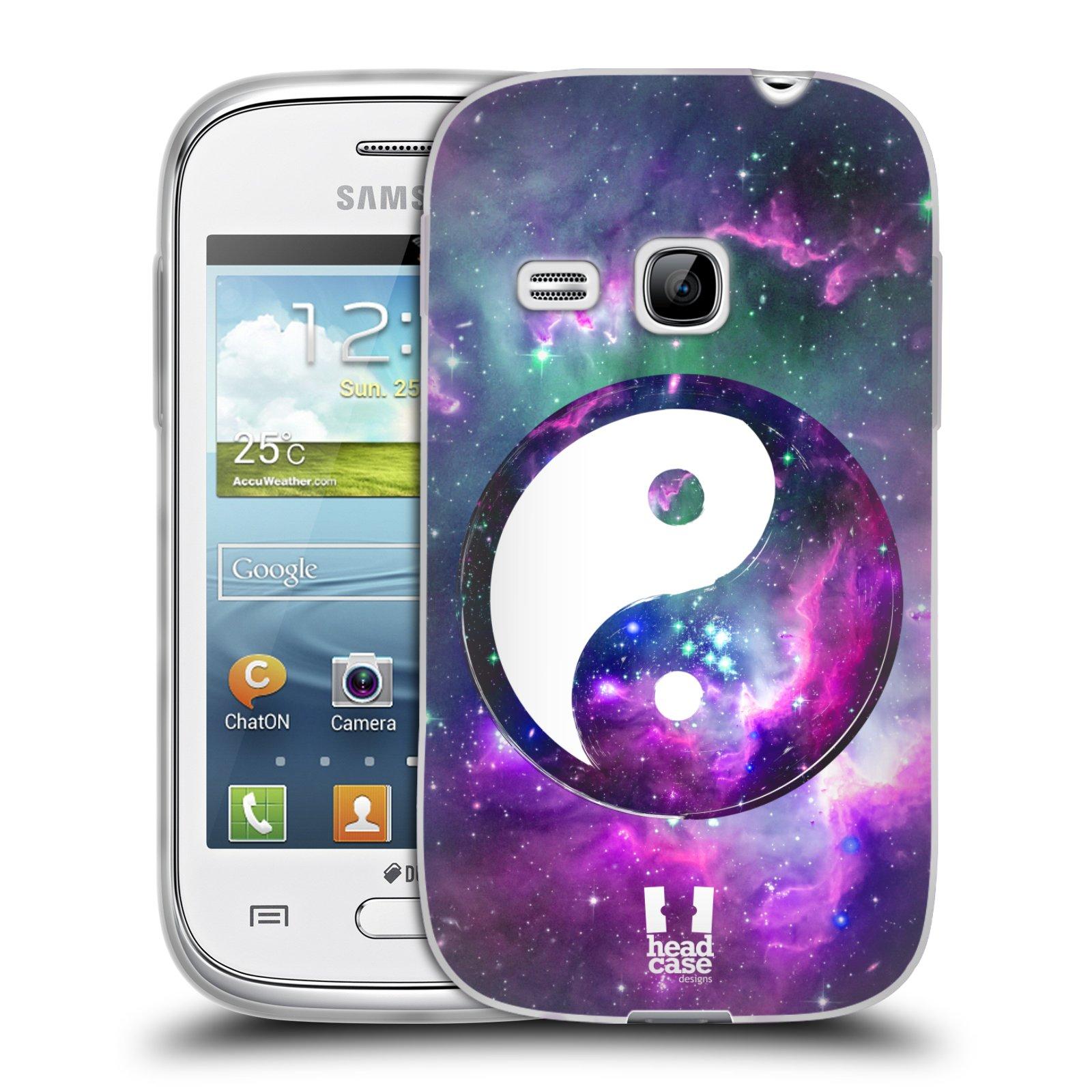 Silikonové pouzdro na mobil Samsung Galaxy Young HEAD CASE YIn a Yang PURPLE (Silikonový kryt či obal na mobilní telefon Samsung Galaxy Young GT-S6310)