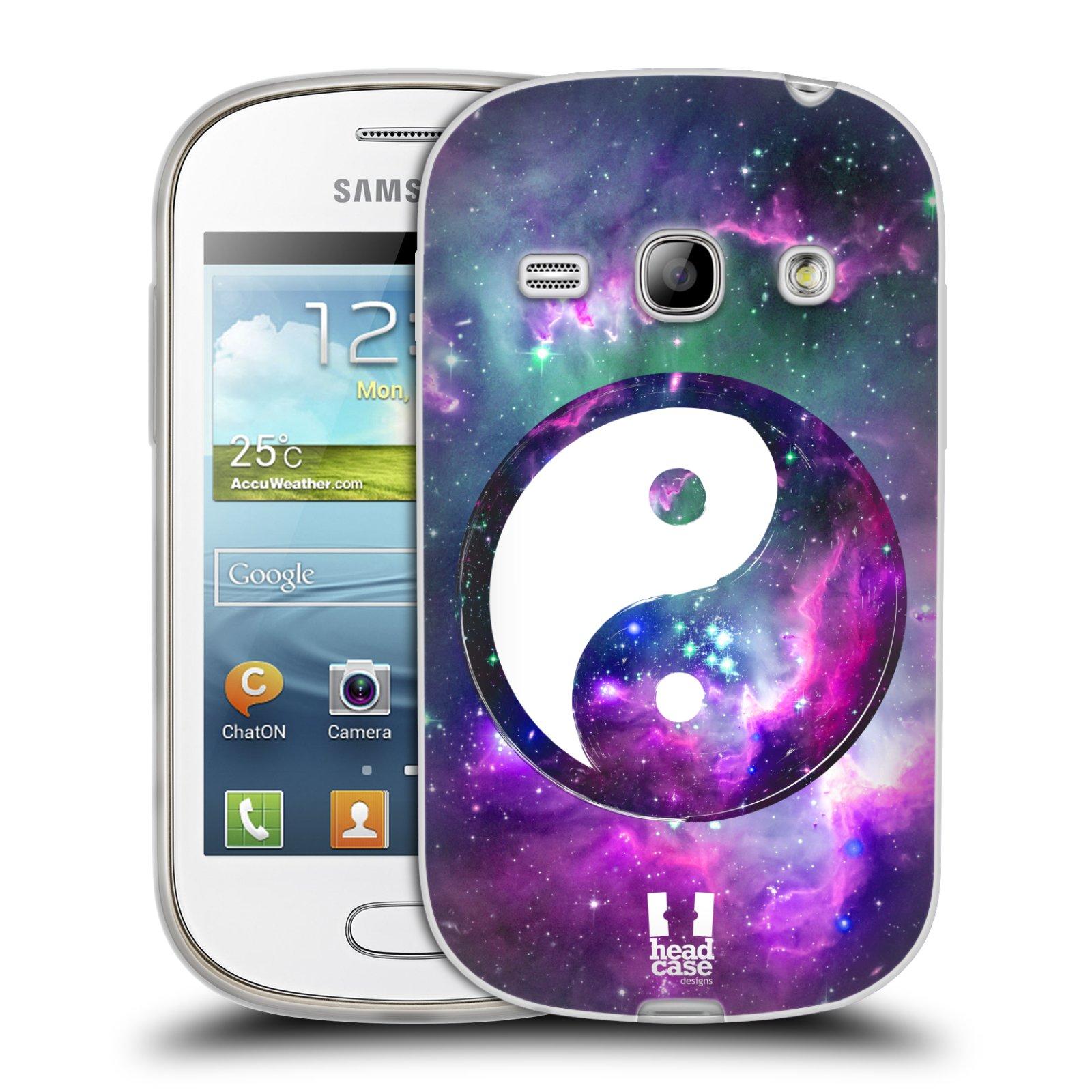 Silikonové pouzdro na mobil Samsung Galaxy Fame HEAD CASE YIn a Yang PURPLE (Silikonový kryt či obal na mobilní telefon Samsung Galaxy Fame GT-S6810)