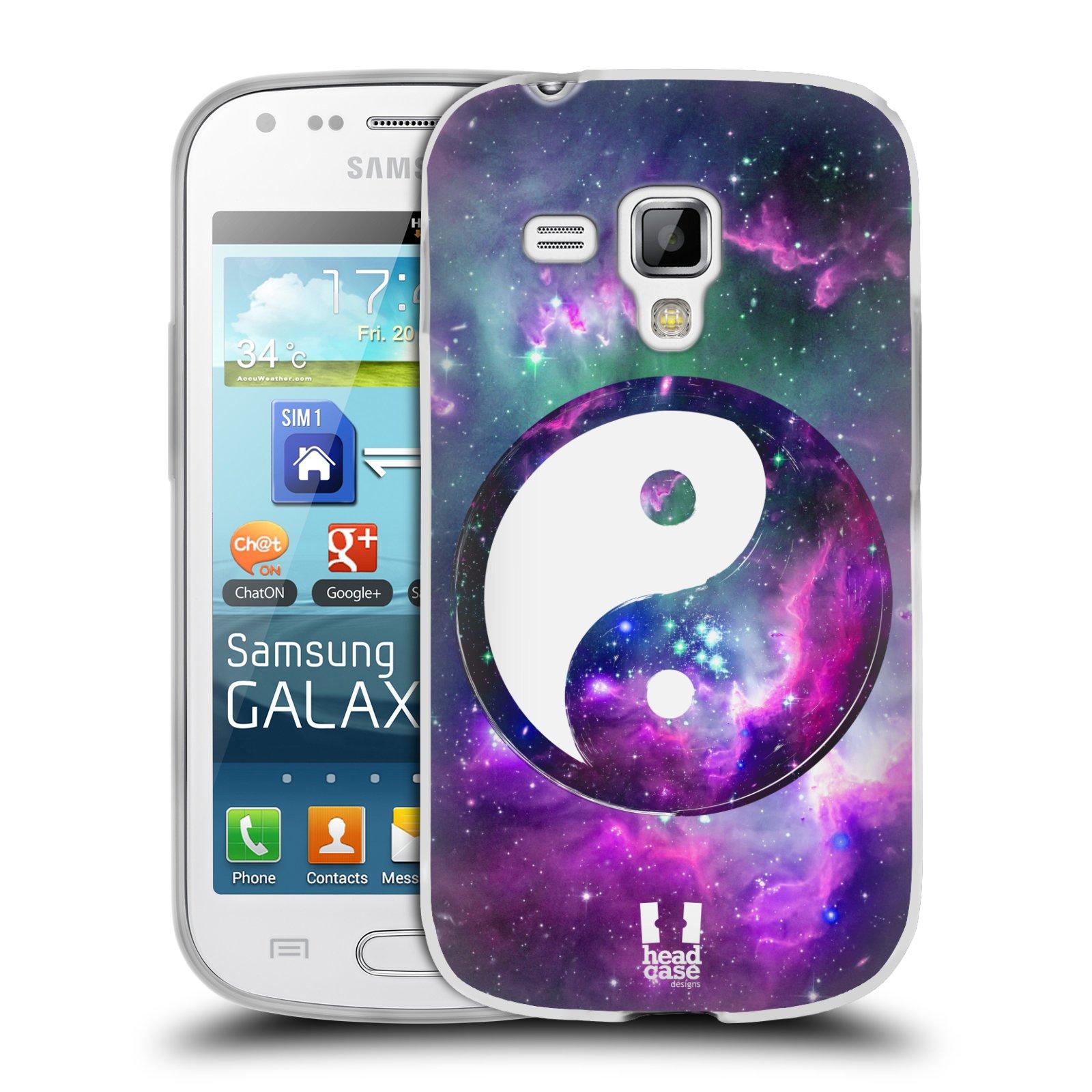 Silikonové pouzdro na mobil Samsung Galaxy Trend HEAD CASE YIn a Yang PURPLE (Silikonový kryt či obal na mobilní telefon Samsung Galaxy Trend GT-S7560)