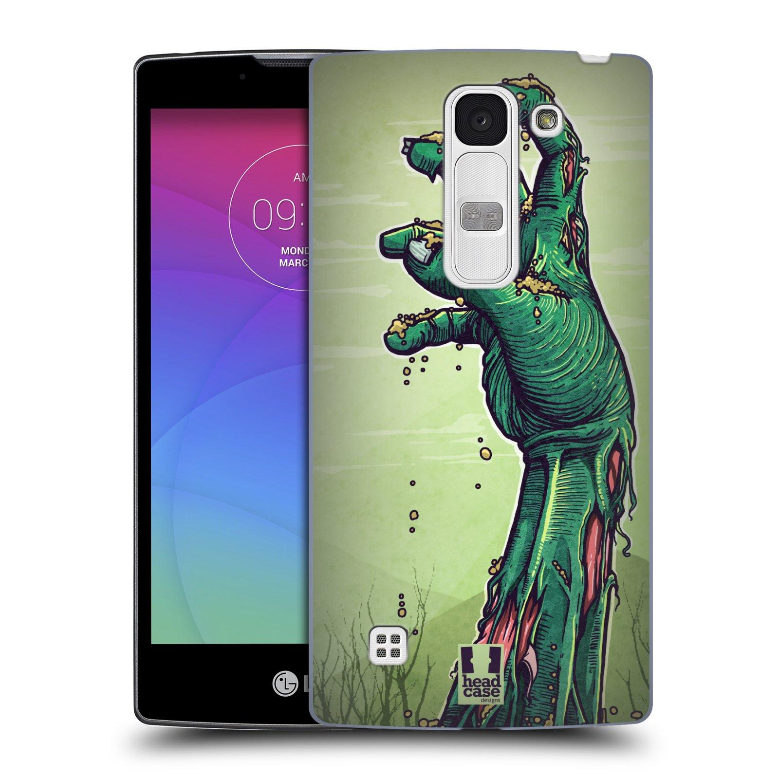 Plastové pouzdro na mobil LG Spirit LTE HEAD CASE ZOMBIE RUKA (Kryt či obal na mobilní telefon LG Spirit H420 a LG Spirit LTE H440N)