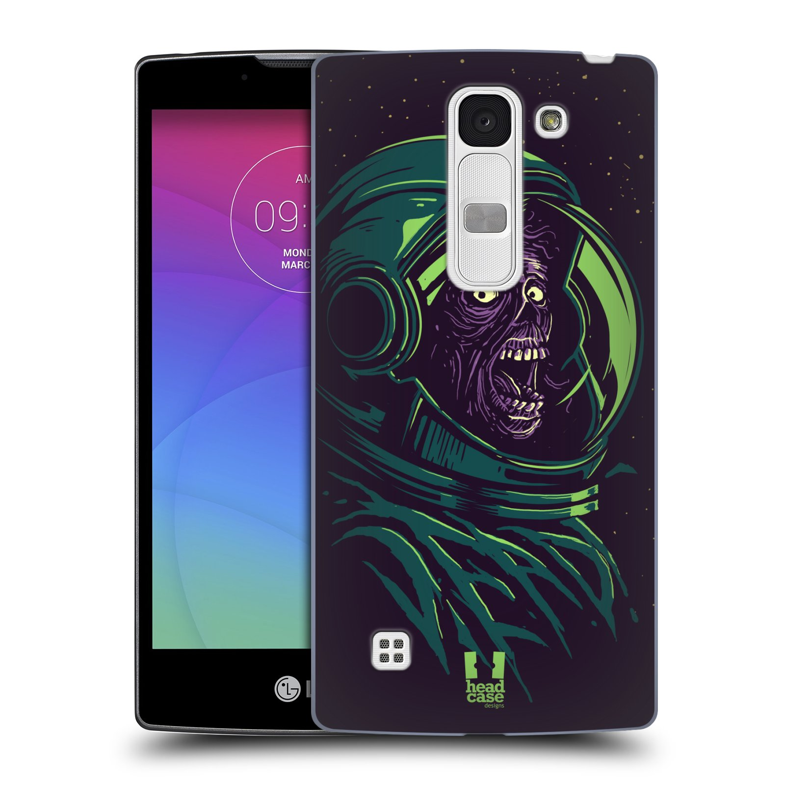 Plastové pouzdro na mobil LG Spirit LTE HEAD CASE ZOMBIE VESMÍR (Kryt či obal na mobilní telefon LG Spirit H420 a LG Spirit LTE H440N)