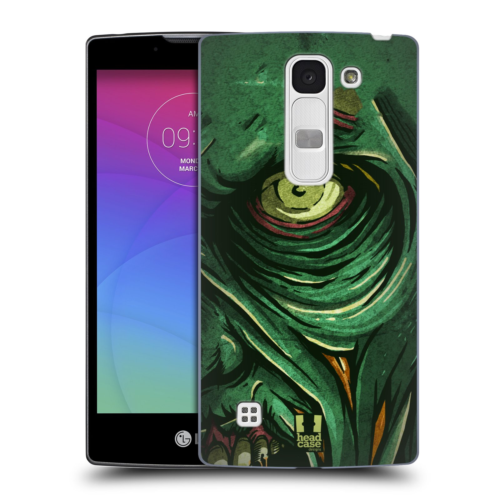 Plastové pouzdro na mobil LG Spirit LTE HEAD CASE ZOMBIE TVÁŘ (Kryt či obal na mobilní telefon LG Spirit H420 a LG Spirit LTE H440N)