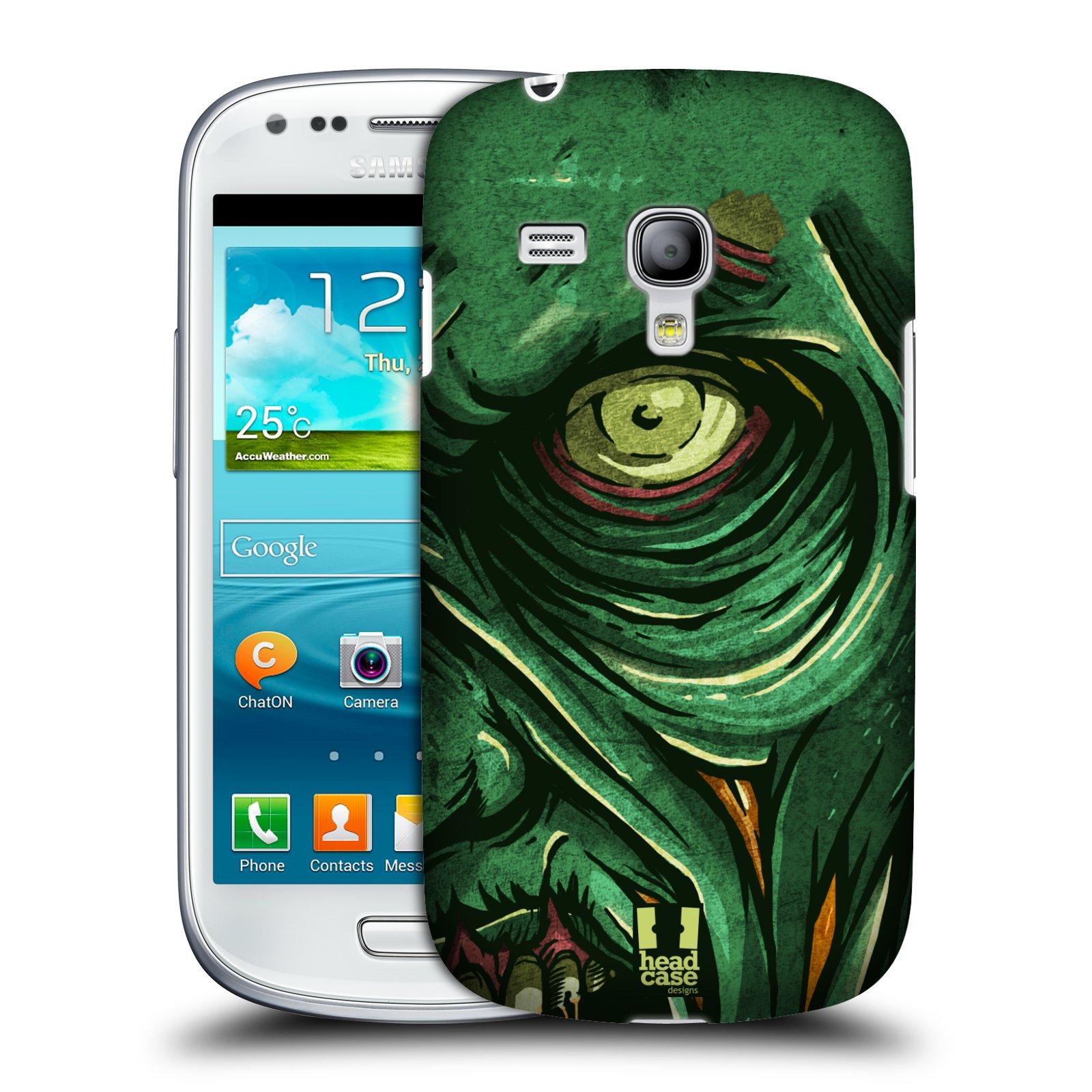 Plastové pouzdro na mobil Samsung Galaxy S3 Mini VE HEAD CASE ZOMBIE TVÁŘ (Kryt či obal na mobilní telefon Samsung Galaxy S3 Mini VE GT-i8200)