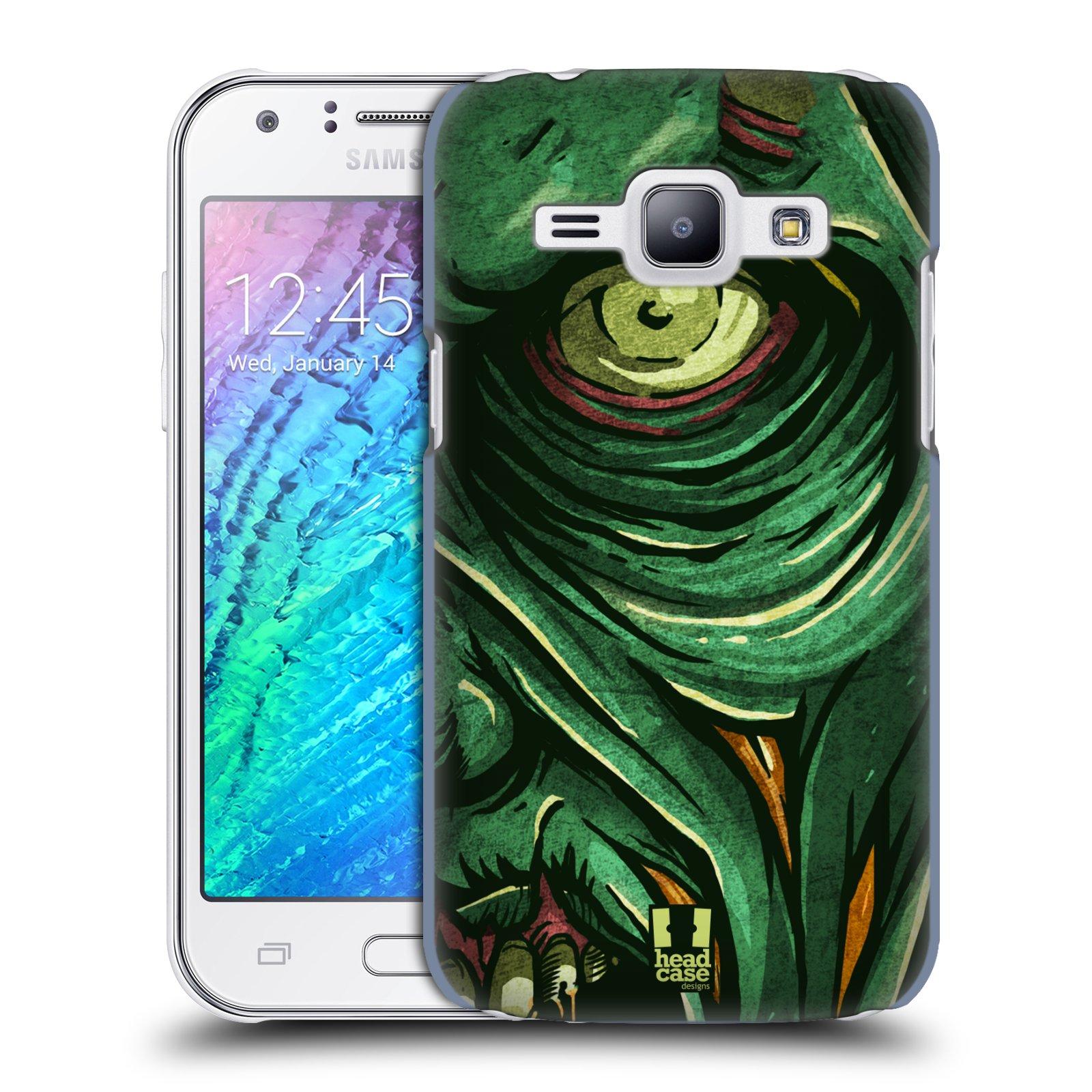 Plastové pouzdro na mobil Samsung Galaxy J1 HEAD CASE ZOMBIE TVÁŘ