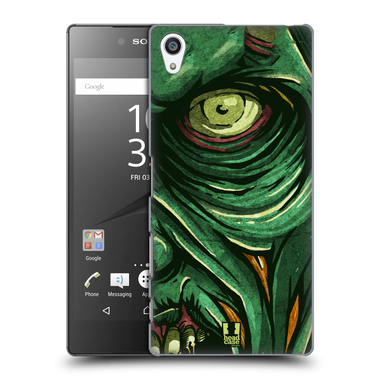 Plastové pouzdro na mobil Sony Xperia Z5 Premium HEAD CASE ZOMBIE TVÁŘ