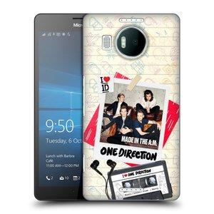 Plastové pouzdro na mobil Microsoft Lumia 950 XL HEAD CASE One Direction - Kazeta