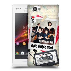 Plastové pouzdro na mobil Sony Xperia M C1905 HEAD CASE One Direction - Kazeta