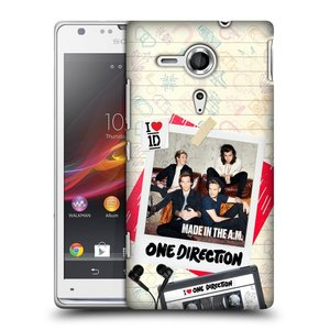 Plastové pouzdro na mobil Sony Xperia SP C5303 HEAD CASE One Direction - Kazeta
