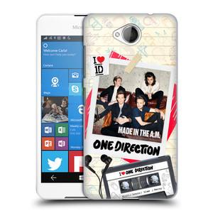 Plastové pouzdro na mobil Microsoft Lumia 650 HEAD CASE One Direction - Kazeta