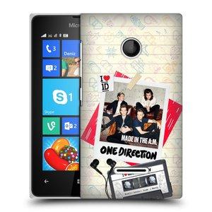 Plastové pouzdro na mobil Microsoft Lumia 435 HEAD CASE One Direction - Kazeta