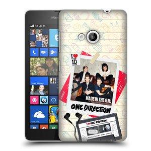 Plastové pouzdro na mobil Microsoft Lumia 535 HEAD CASE One Direction - Kazeta