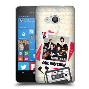 Plastové pouzdro na mobil Microsoft Lumia 550 HEAD CASE One Direction - Kazeta