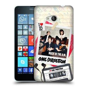 Plastové pouzdro na mobil Microsoft Lumia 640 HEAD CASE One Direction - Kazeta