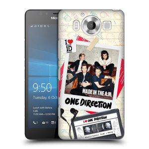 Plastové pouzdro na mobil Microsoft Lumia 950 HEAD CASE One Direction - Kazeta