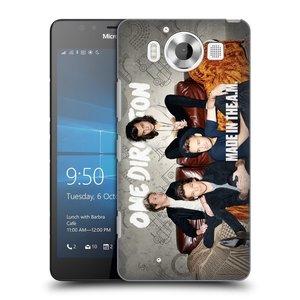Plastové pouzdro na mobil Microsoft Lumia 950 HEAD CASE One Direction - Na Gaučíku