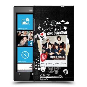 Plastové pouzdro na mobil Nokia Lumia 520 HEAD CASE One Direction - S kytárou