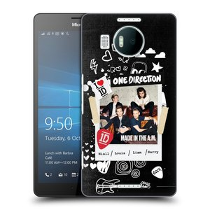 Plastové pouzdro na mobil Microsoft Lumia 950 XL HEAD CASE One Direction - S kytárou