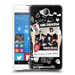 Plastové pouzdro na mobil Microsoft Lumia 650 HEAD CASE One Direction - S kytárou