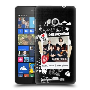 Plastové pouzdro na mobil Microsoft Lumia 535 HEAD CASE One Direction - S kytárou