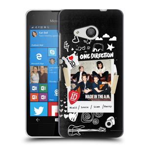 Plastové pouzdro na mobil Microsoft Lumia 550 HEAD CASE One Direction - S kytárou