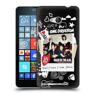 Plastové pouzdro na mobil Microsoft Lumia 640 HEAD CASE One Direction - S kytárou