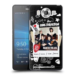 Plastové pouzdro na mobil Microsoft Lumia 950 HEAD CASE One Direction - S kytárou